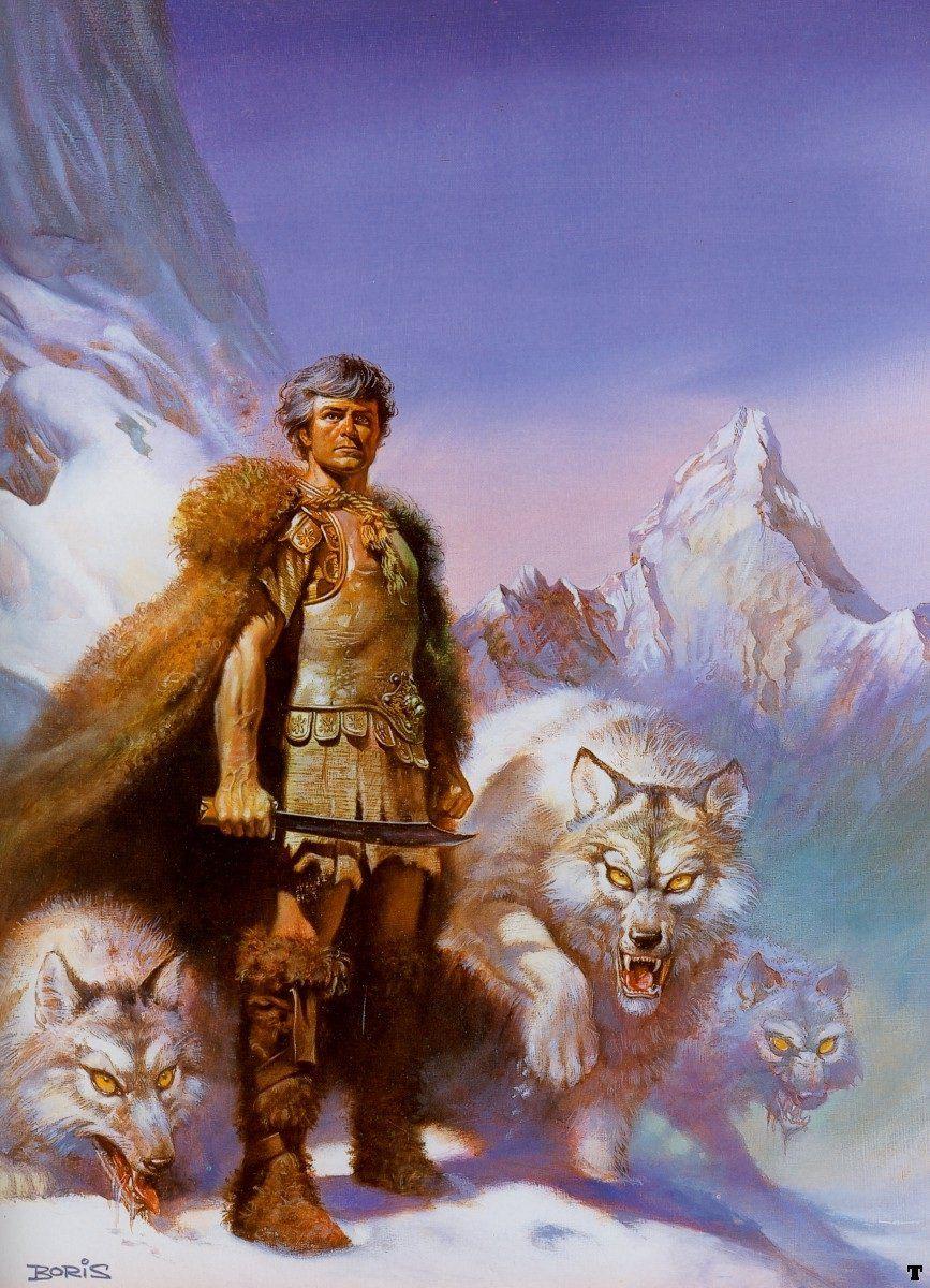 Boris vallejo lord of the wolves scifi fantasy art