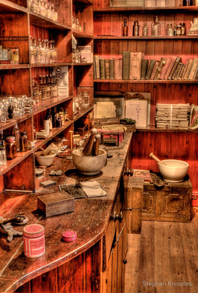 The Medicine Room by Stephen Knowles Apothecary, Witch room