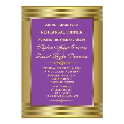 royal purple and gold engagement party invitation pinterest