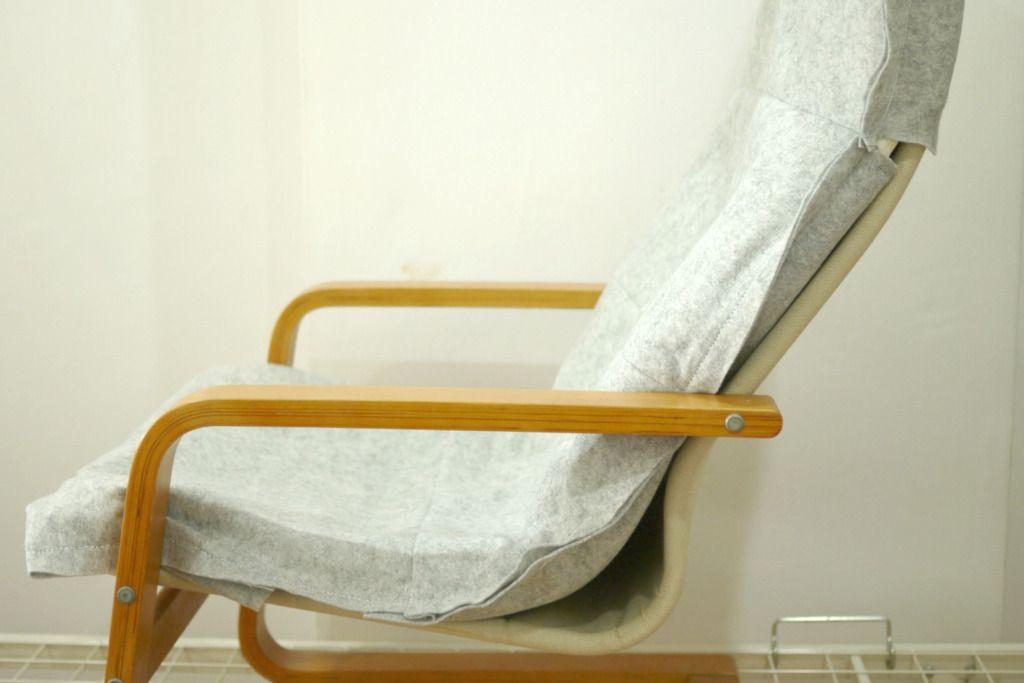Make Diy Ikea Pello Poang Chair Felt Cover In 2020 Ikea Chair