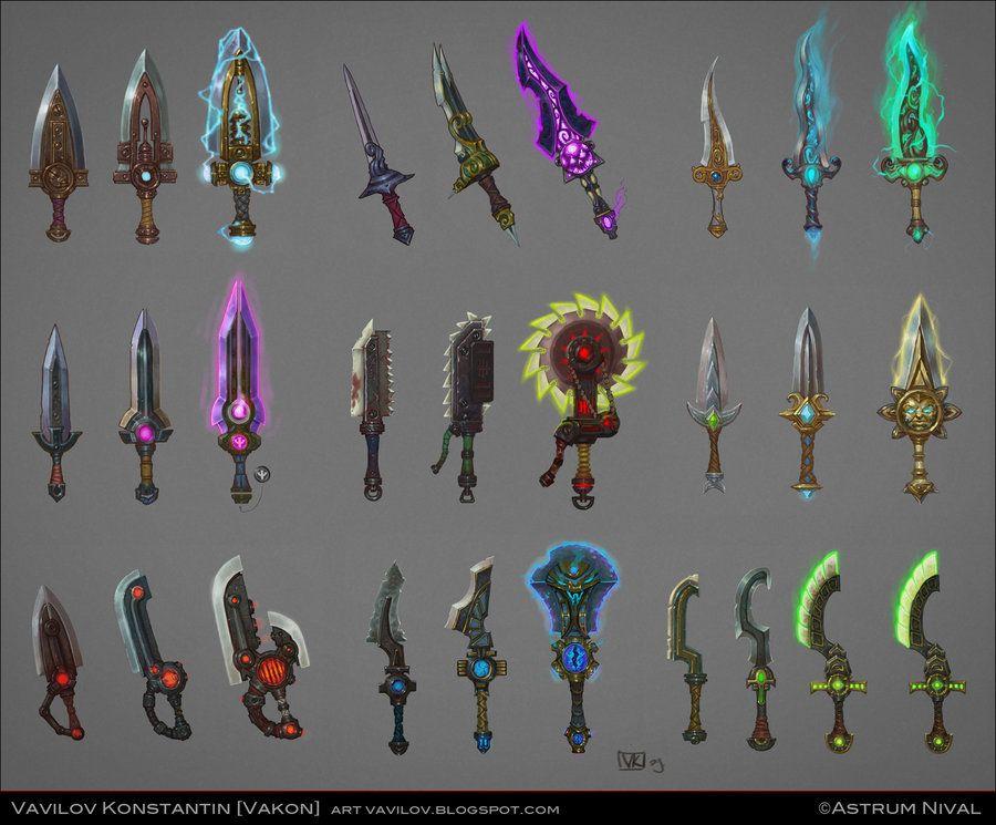 Fantasy Magic Dagger Art