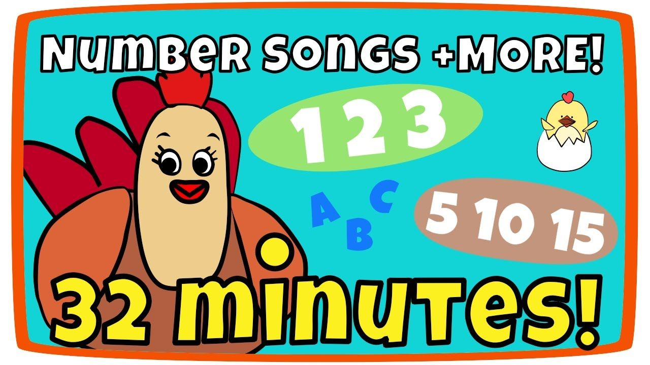 Counting From 1 10 Song Rainbow Colors More Kids Song Compilation Kids Songs Songs Rainbow Colors