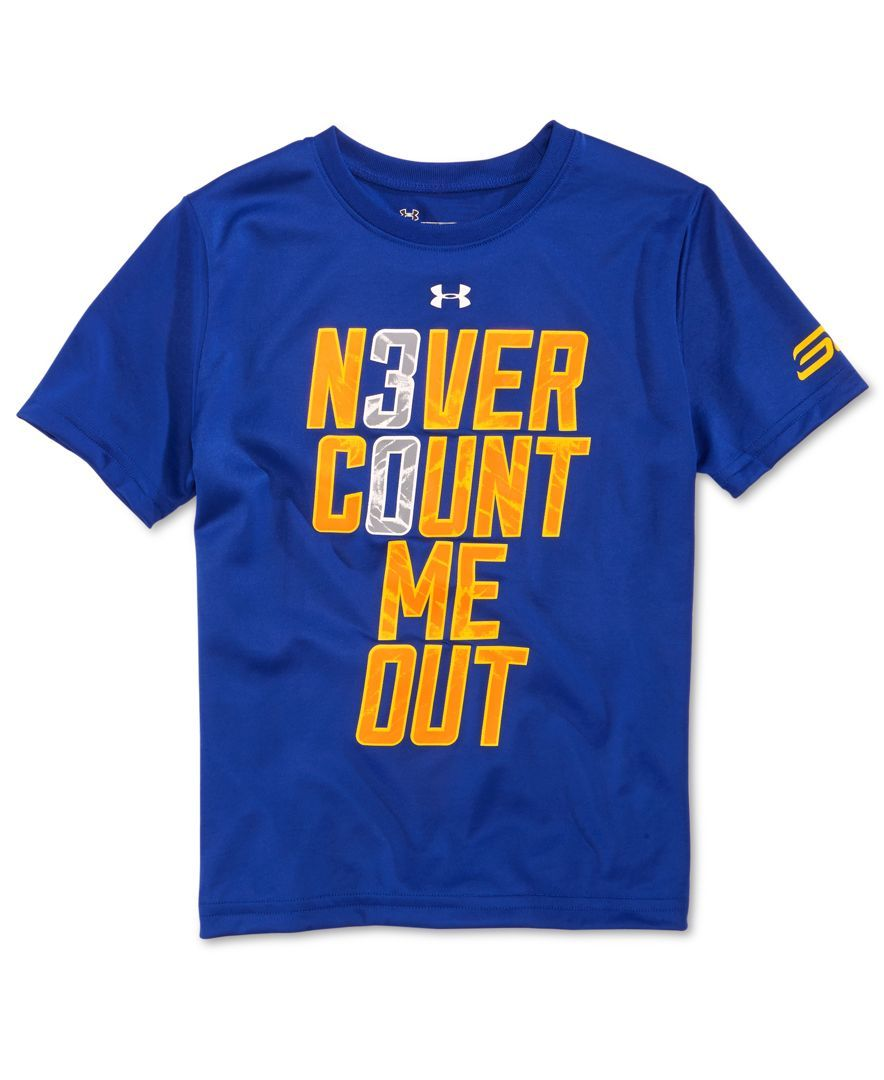 new styles 13d01 80220 Under Armour Boys' Stephen Curry Never Count Me Out T-Shirt ...
