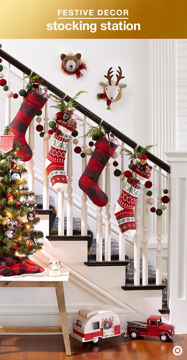 No Mantel No Problem Hang Stockings From The Banister