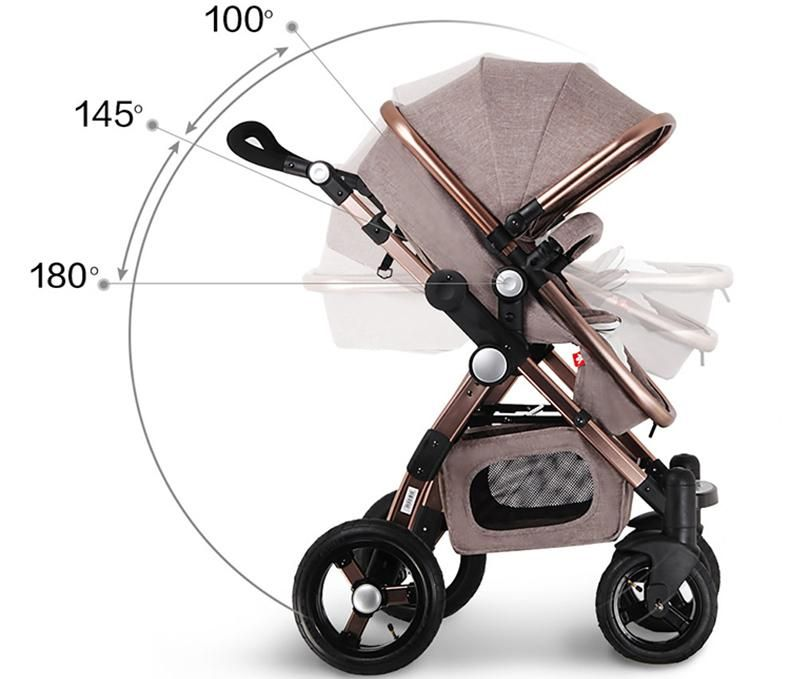 3 In 1 Convertible Stroller With Binet Toddler Seat