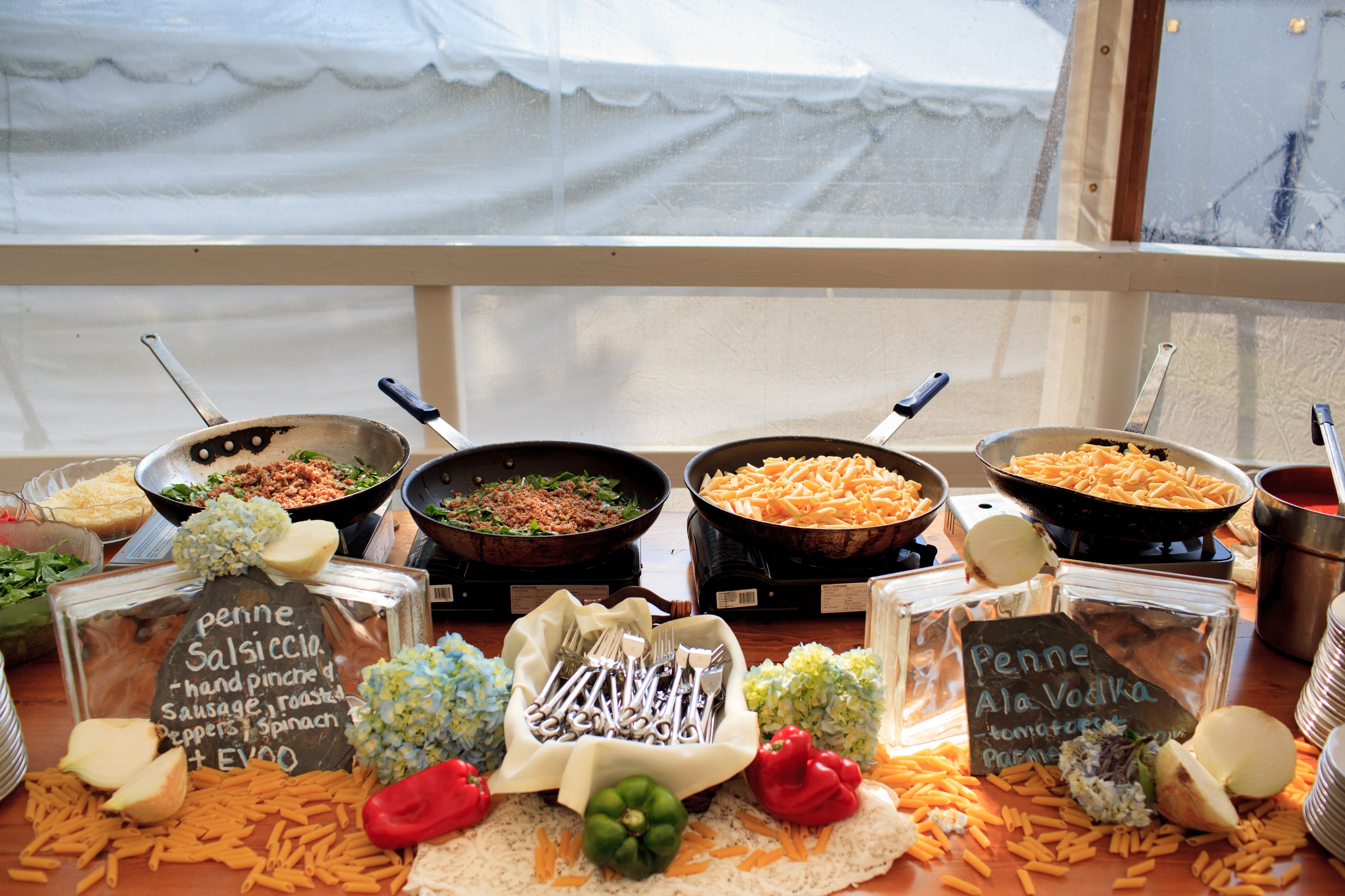 Chef attended pasta station thanks lt photography for Bar food ideas recipes