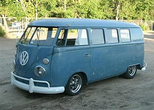 1966 VW Bus - this looks very much like the one my aunt and uncle had.  Went camping in this several times - six kids, 4 adults.  Don't ask how we fit the camping gear in, too.  I don't know.  Maybe I blocked it out.  hahahahaha