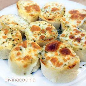 pan de ajo al queso divina cocina