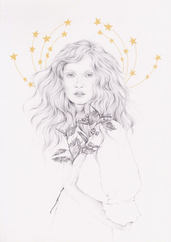 The Brightest Star 1 LIMITED EDITION PRINT por emmaleonardart