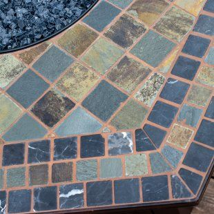 Decorative Patio Tiles Fair Uniflame 55Inlp Gas Outdoor Firebowl With Decorative Slate Tile Inspiration