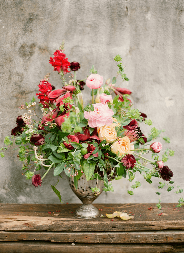 Equestrian Inspired Rustic Engagement Once Wed Vintage Flower Arrangements Flower Arrangements Floral Arrangements