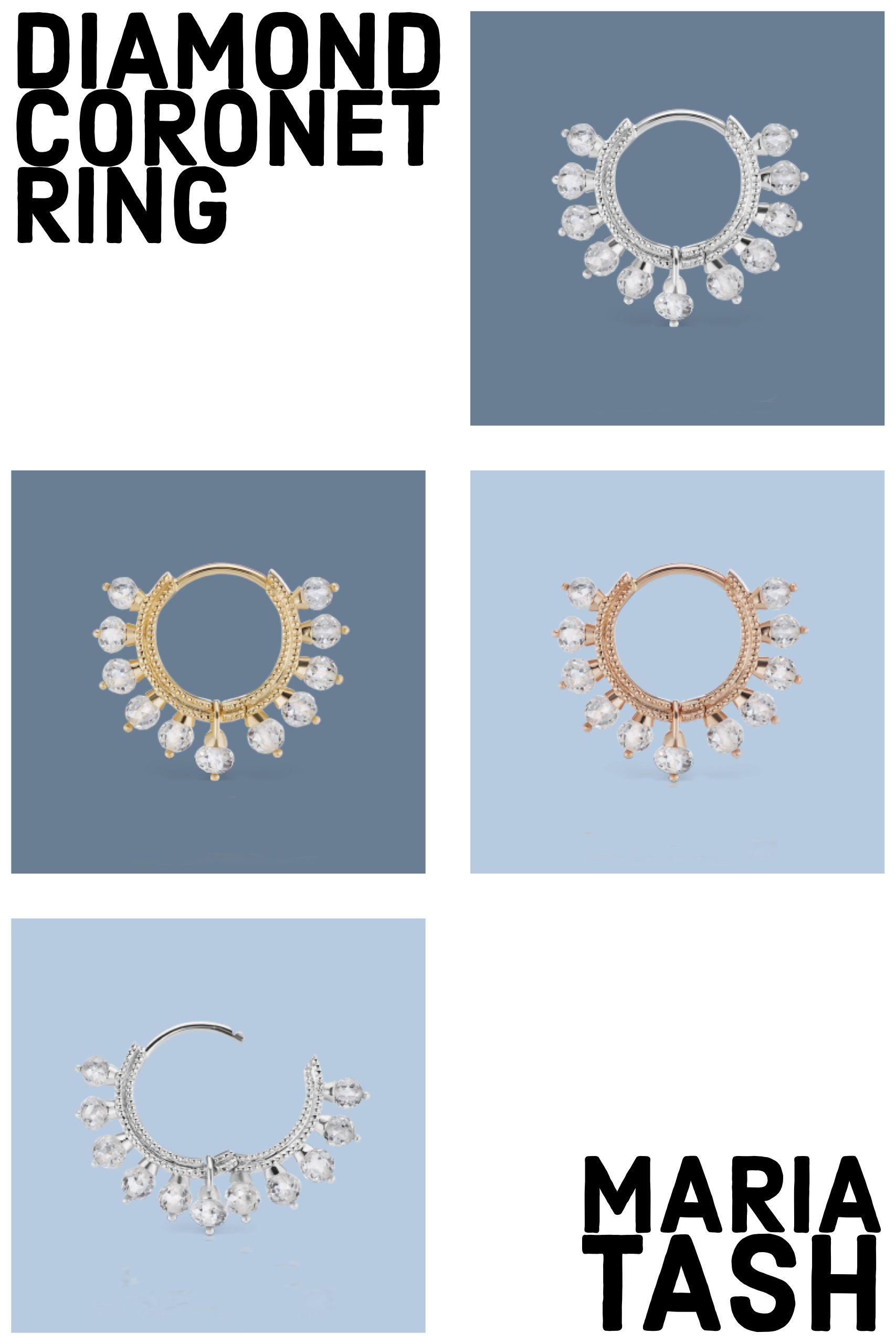 Piercing above top lip  Diamond Coronet Ring  Maria Tash  Septum Jewelry  Pinterest