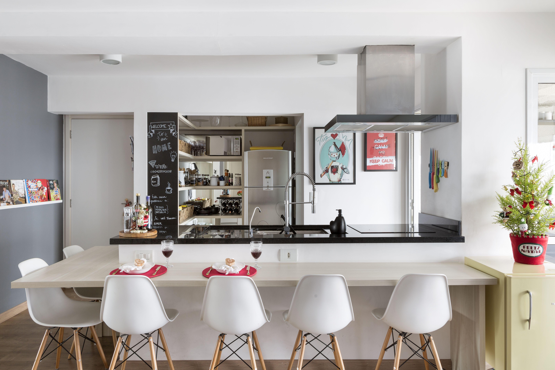 Cozinha Americana Com Ilha E Sala De Jantar Cheap With Decorao De