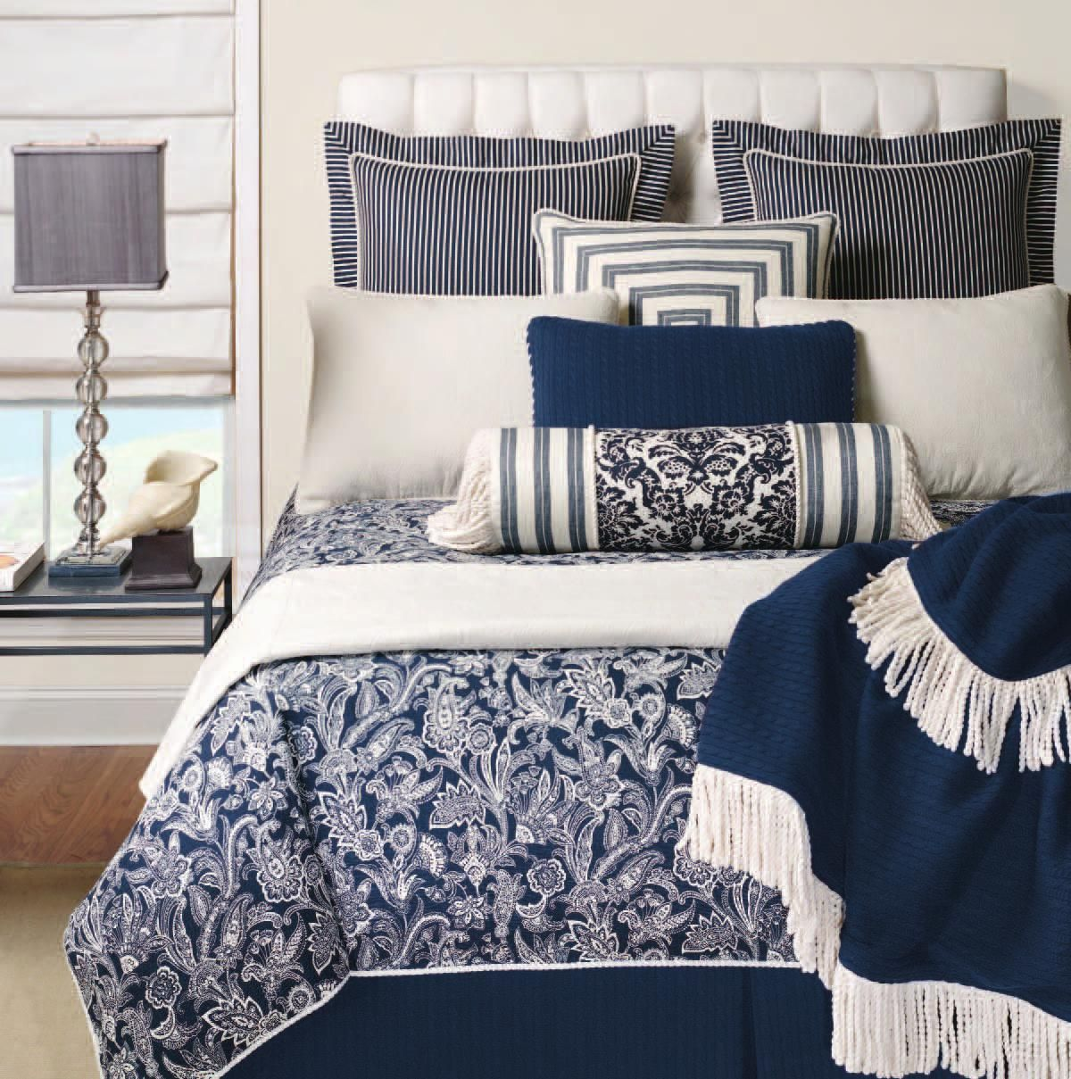 Navy And White Hotel Bedding Hotel Hampton Boutique