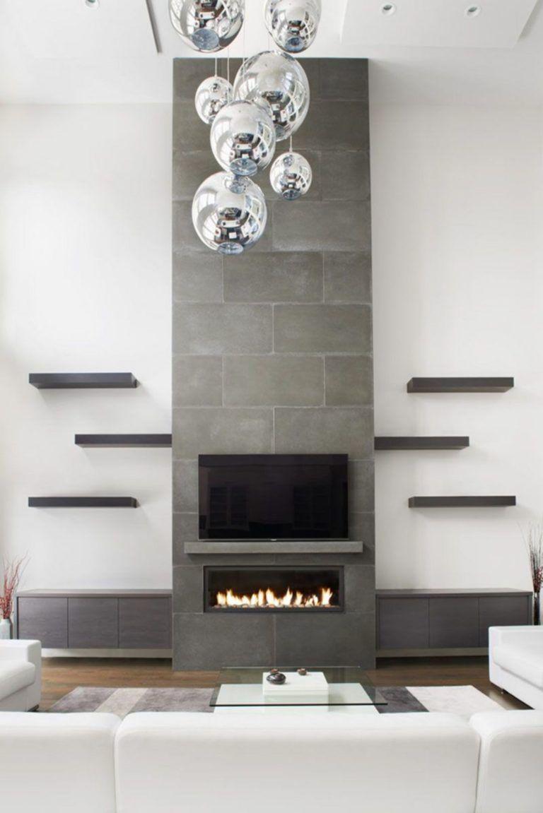 30 Beautiful Modern Fireplaces For Winter Design Ideas #modernfireplaceideas