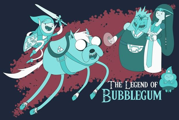 The Legend of Bubblegum - Zelda/Adventure Time mash-up. I'm not really a fan of Zelda (not against it either) but if there's one thing I'm getting from this picture, it's that Marceline looks AMAZING in that outfit! Am I right or what?