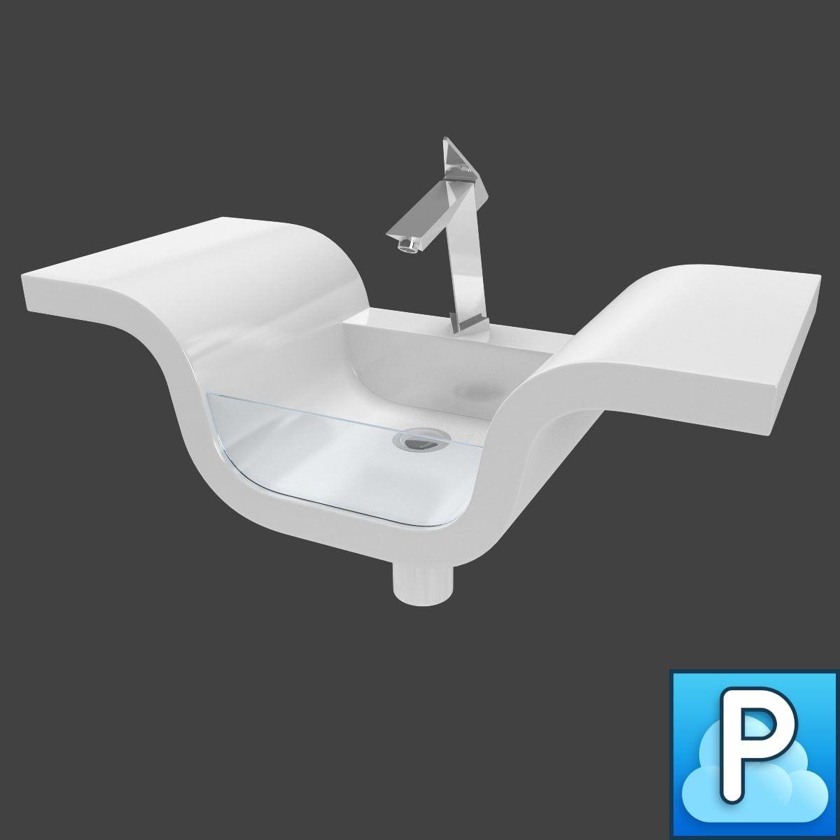 3Ds Max Sink Faucet - 3D Model   3D-Modeling   Pinterest   Faucet ...