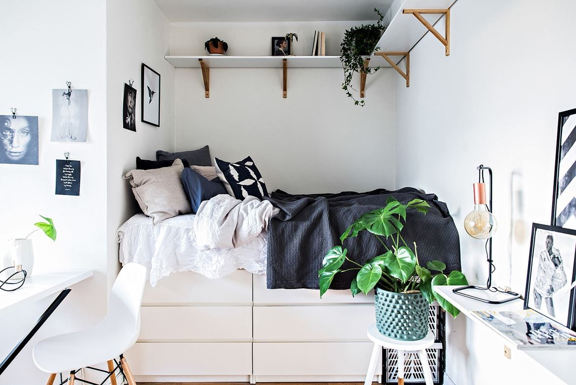 tiny studio apartment follow gravity home: blog - instagram