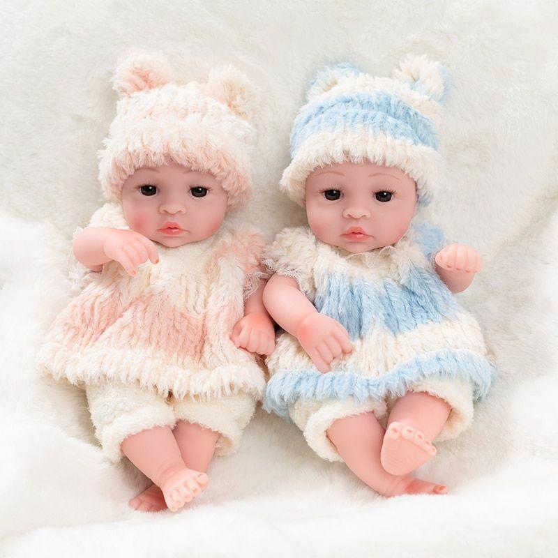 10inch Newborn Reborn Doll Toys Baby Simulation Soft Vinyl Dolls Children Kindergarten Lifelike Toys For Children Birthday G Vinyl Dolls Reborn Dolls Doll Toys