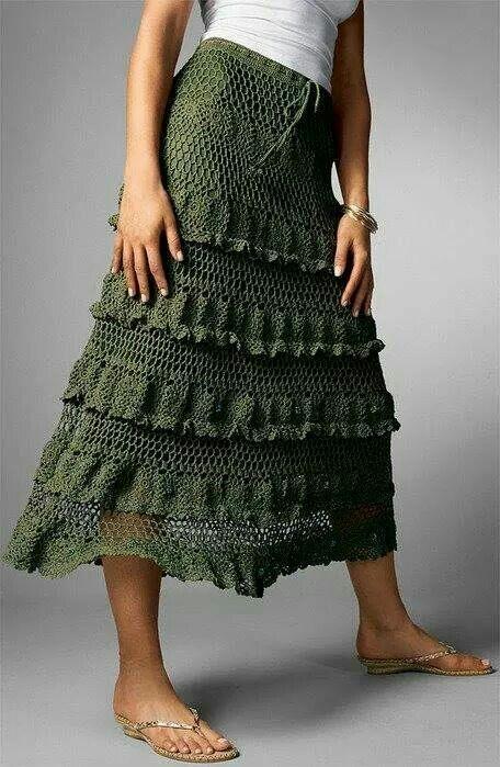 Saia  Longa   Crochet