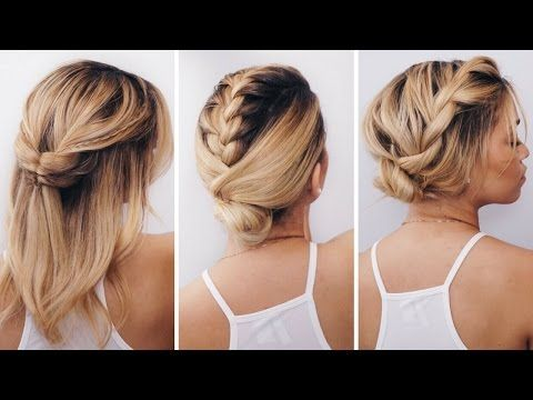 3 Simple Short Hairstyles For Summer Ft Innate Life Giveaway Ashley Bloomfield Youtube Medium Length Hair Styles Hair Styles Summer Hairstyles