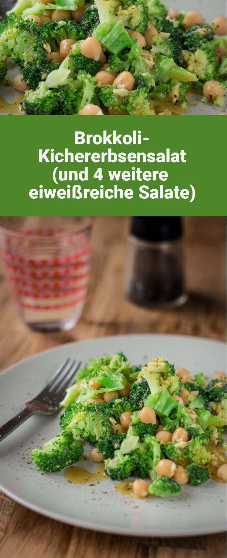 Vegan broccoli and chickpea salad   - Vegane Salate -