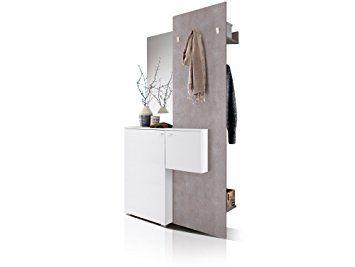 Zarah Komplett Garderobe Weiss Beton Amazon De Kuche Haushalt