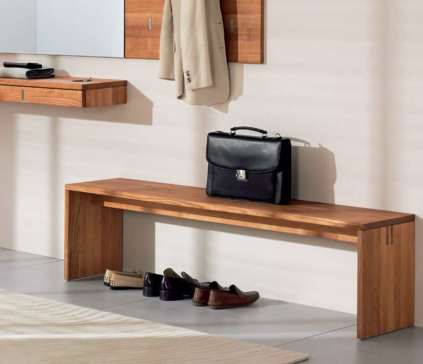 Luxury Hall Bench From Team7 Shown In Solid Walnut Bench With Shoe Storage Hall Bench Shoe Bench