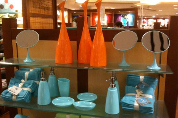 Orange And Blue Bathroom Accessories Not Sure How I Feel About This But Just In Case