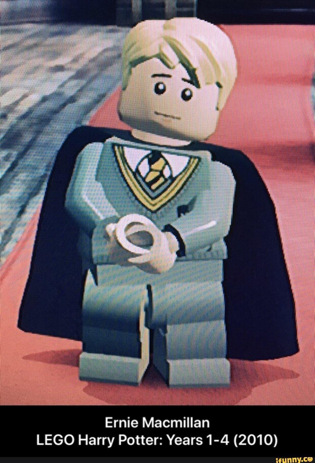 Ernie Macmillan Lego Harry Potterzyears1 4 2010 Ifunny Harry Potter Memes Hilarious Lego Harry Potter Macmillan
