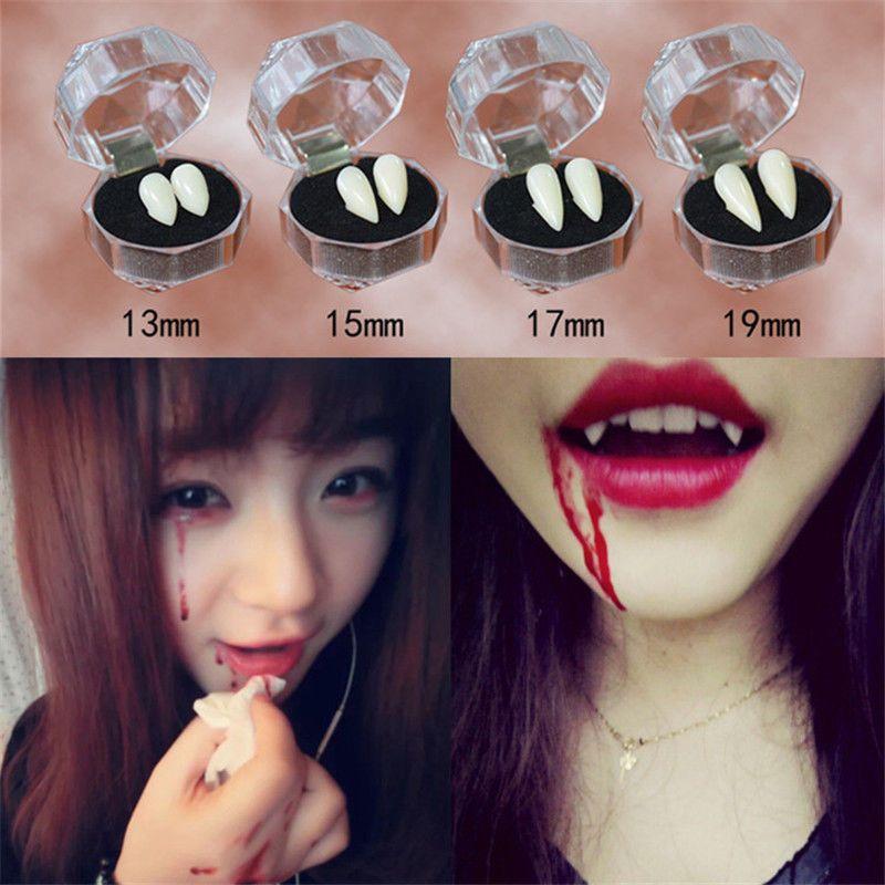 Vampire Fangs White Teeth Caps Adhesive Halloween Fancy Dress Vampire Horror