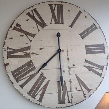 Kitchenclock Big Wall Clocks Large Wooden Clock Farmhouse Wall