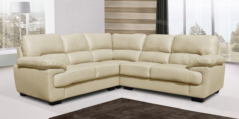 Small Cream Leather Corner Sofa Leather Corner Sofa Small