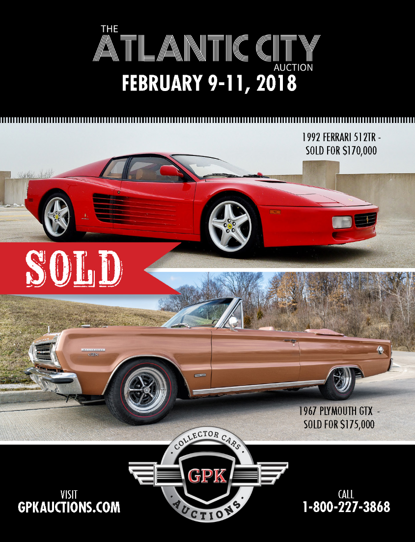 DONT MISS THE ATLANTIC CITY AUCTION AND CAR SHOW FEBRUARY - Atlantic city classic car show
