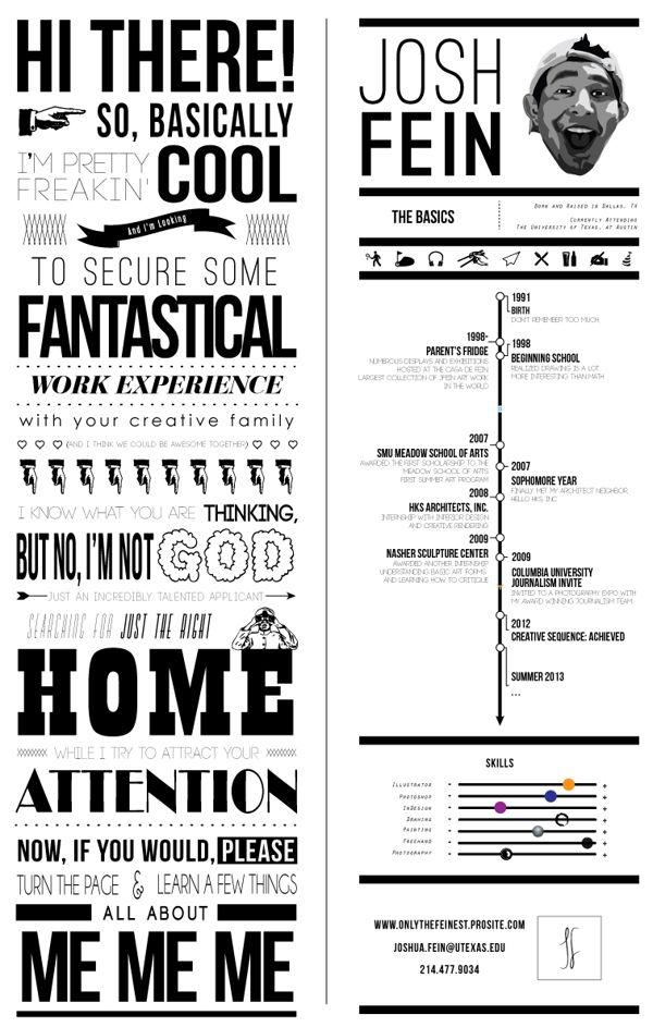 50 Creative Resume Designs To Bag The Job Vol 3 Hongkiat Graphic Design Resume Graphic Resume Resume Design