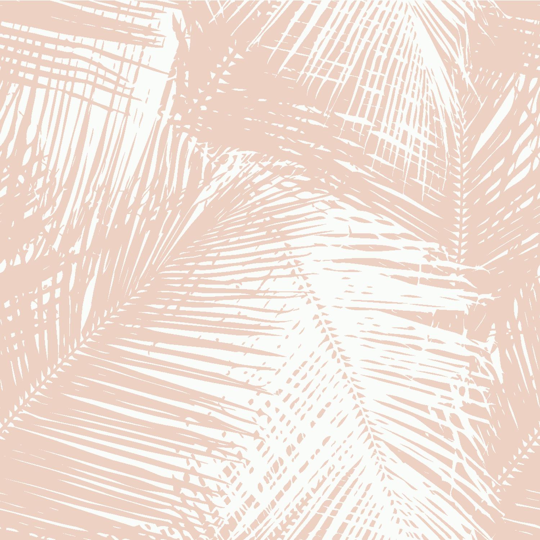 Palms Blush Removable Wallpaper