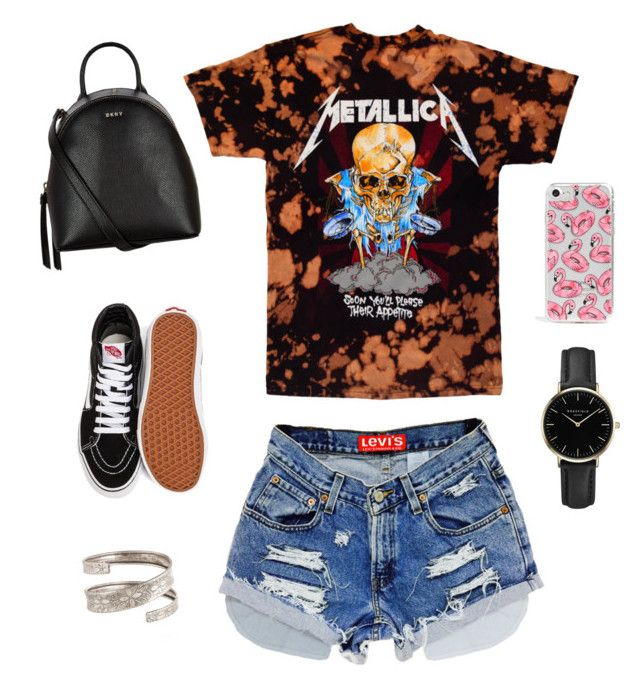 """""""Metallica"""" by peopledontgetme on Polyvore featuring Vans, DKNY, ROSEFIELD and Skinnydip"""