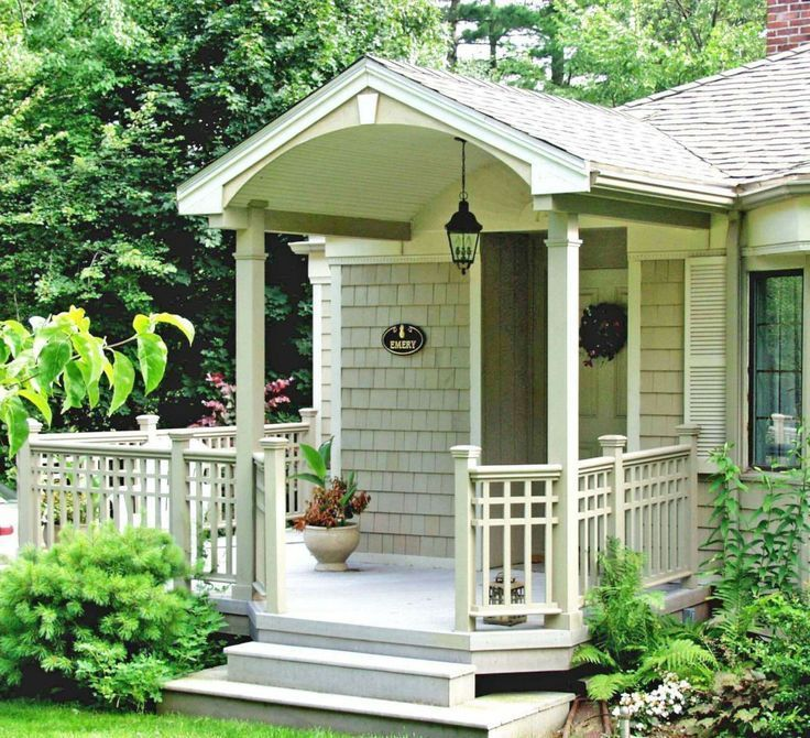 Small Enclosed Front Porch Entry