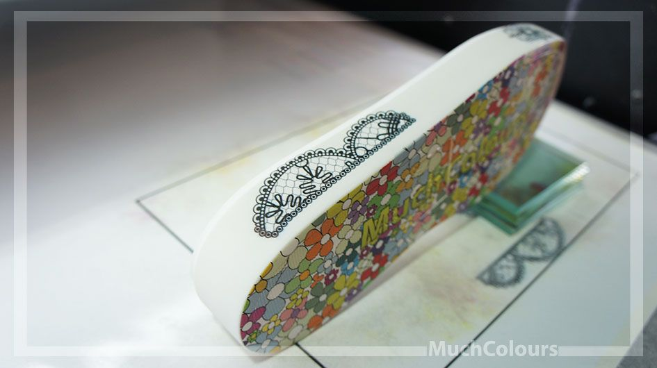Direct printing on shue soles made of EVA