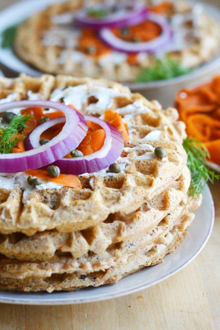 Everything Bagel Waffles Vegan 2 Everything bagel, Vegan