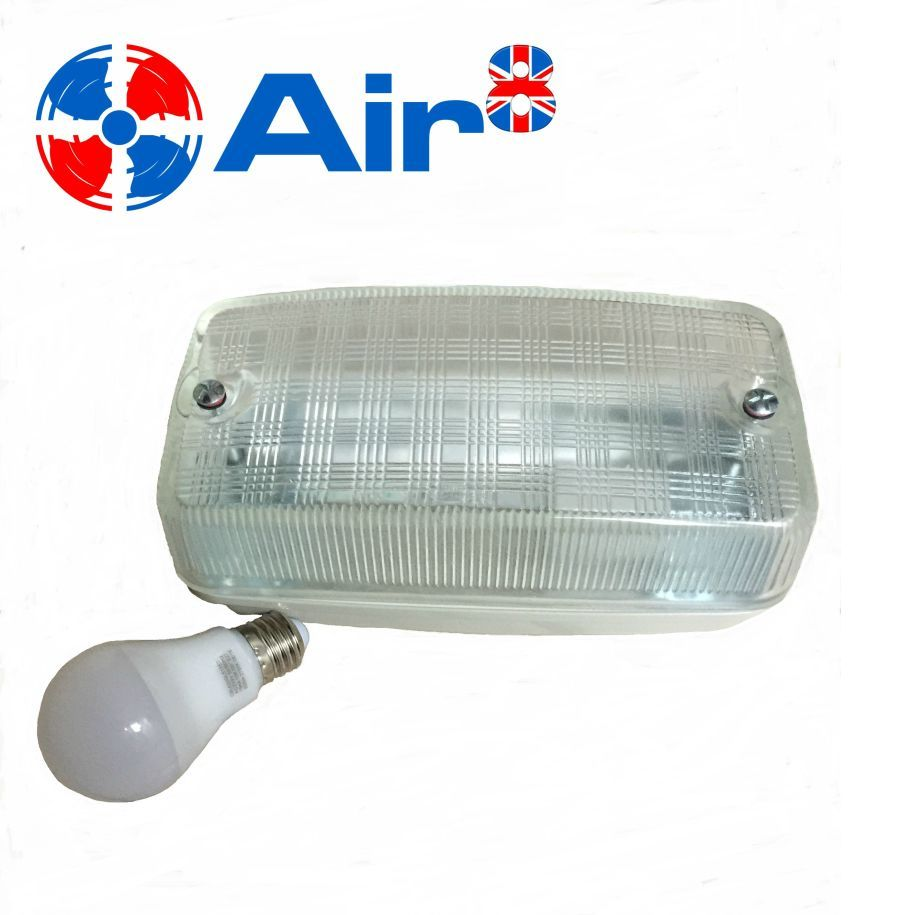 bulkhead light fitting for commercial kitchen canopy c/w 9w led bulb