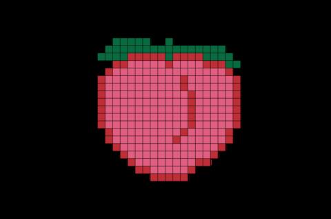 Peach Pixel Art Pixel Art Pixel Pattern Pattern Art