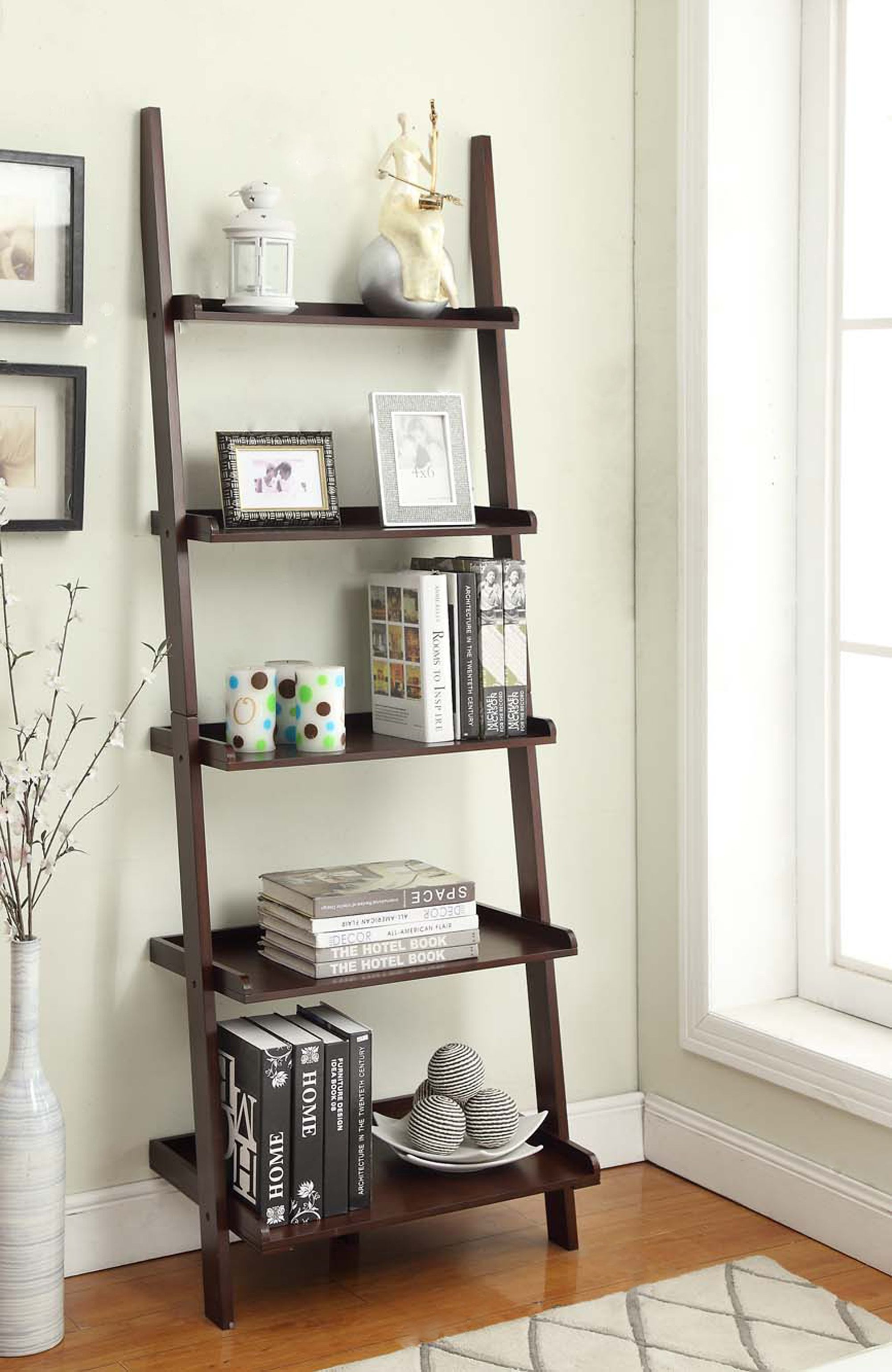 Home Ladder Bookshelf Ladder Shelf Decor Living Room Storage