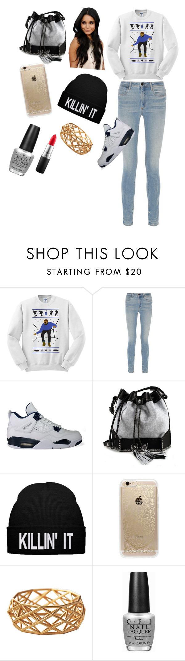 """""""Untitled #86"""" by christianabossbitch47 ❤ liked on Polyvore featuring Alexander Wang, NIKE, Carianne Moore, Rifle Paper Co, OPI and MAC Cosmetics"""