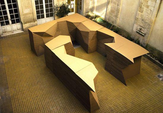 Kl Nb Architects Artificial Landscape Cardboard Design Architecture Architectural Inspiration