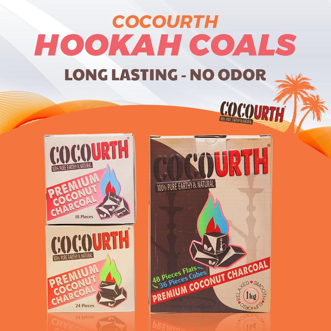 Cocourth Hookah Coals Earthy, Pure products
