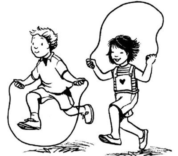 Jump Rope For Heart Colouring Pages
