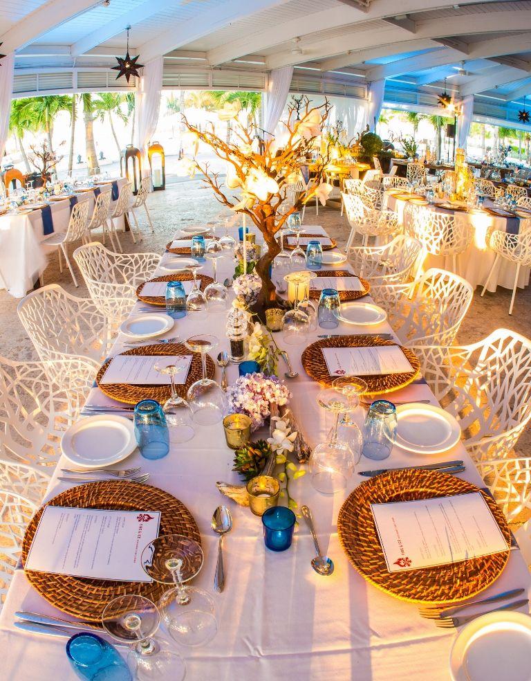 Wedding Dinner Set Up At Fire Ice Blue Haven Resort Turks Caicos