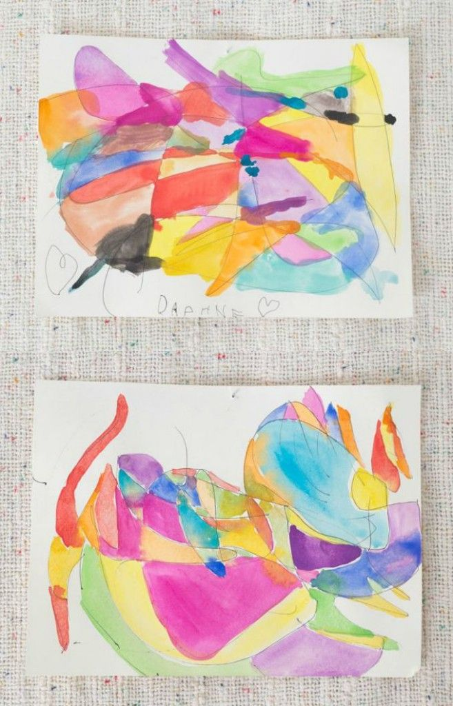 Scribble Drawings with Watercolor Paint - A Beautiful Abstract Art Activity for Kids and Adults