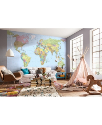 Mural World Map In 2019 Products World Map Mural World